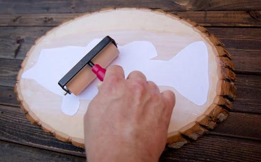 transfert photo sur le bois